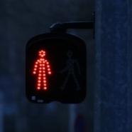 Strasbourgの歩行者用信号(赤)